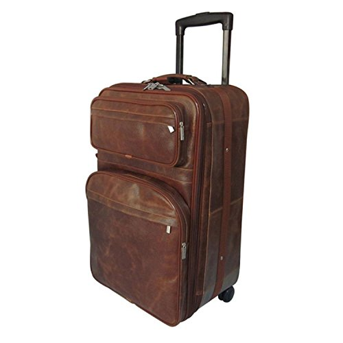 Duffel 29 Large Wheeled (Brown Small Wheeled Duffle Bag 26-Inch Leather Upright Solid Expandable Handle)