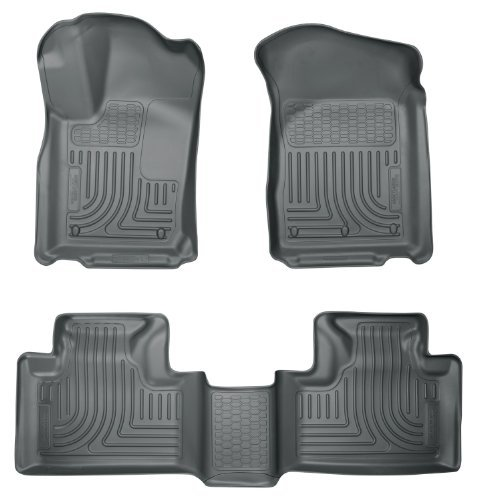 (Husky Liners 99052 WeatherBeater Grey Front and 2nd Seat Floor Liner by Husky Liners)