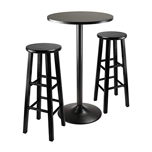 Winsome 20331 Obsidian Pub Table Set, 1, Black ()