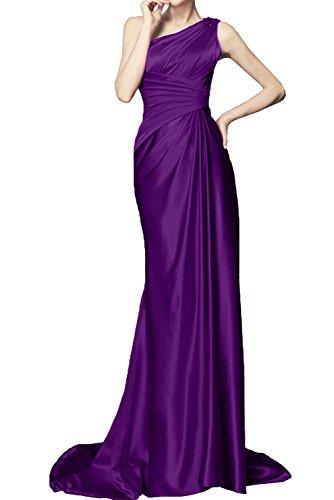 Abendkleider Lang Ein Promkleid Schleppe Ballkleider Damen Violett Schulter Ivydressing 7tCxqIHnw7