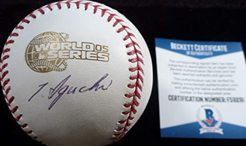 Authentic Beckett Tadahito Iguchi Autographed Signed-Autographed Signed 2005 World Series Game Baseball 1