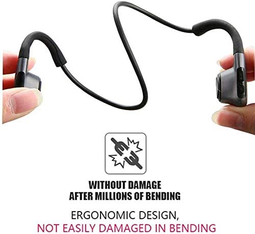 TYGYDLQ 骨伝導ヘッドセットブルートゥース5.0、3D忠実度のステレオヘッドセット、無線ヘッドセットのノイズ低減、運動防水ヘッドセット、マイクヘッドセット (Color : A)