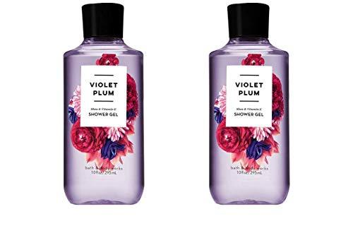 Bath and Body Works 2 Pack Violet Plum Shower Gel 10 Oz.