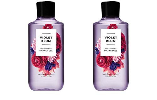 Bath and Body Works 2 Pack Violet Plum Shower Gel 10 ()