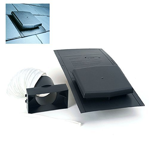 (10K Slate Roof Tile Vent Ventilator & Adapter Kit for Extractor fans, Soil Pipes by Timloc)
