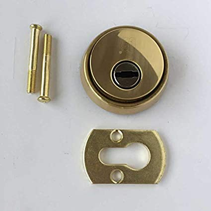 Escudo de seguridad para puerta de seguridad latonado.Para bombillo tipo pera