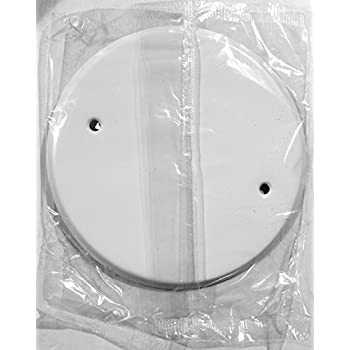 for Raised Ring Or 4 In 8 In Ceiling Blank-Up Cover 0.0276 In Thick Steel to Cover Electrical Wires White 1 Pc Round//Octagon Box