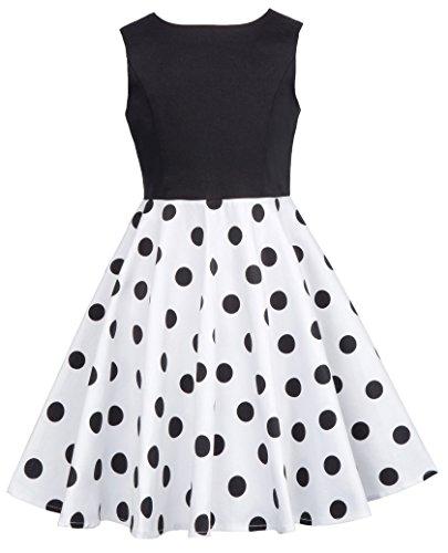 Girls Sleeveless Vintage Party Swing Dresses 10-11yrs -