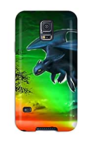 Defender Case For Galaxy S5, Colorful Toothless Dreamworks Animation Pattern