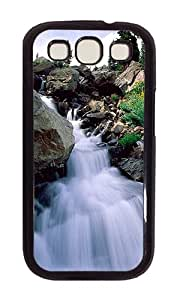 Samsung S3 Case,VUTTOO Cover With Photo: Nature Waterfall For Samsung Galaxy S3 I9300 - PC Black Hard Case