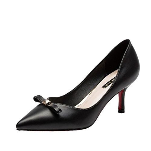 perfectaz-women-fashion-graceful-pu-bowkont-pull-on-thin-heel-paryt-wedding-pump-shoes55-bm-us-black