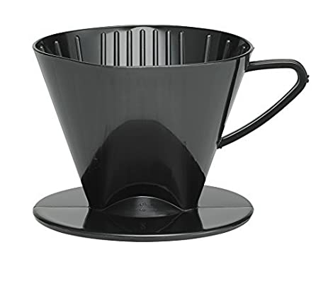 HIC 2662 Coffee Filter Cone, Black, Number 2-Size Filter, Brews 2 to 6-Cups