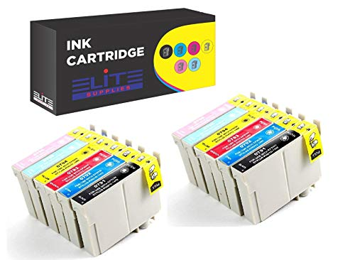 12-Pack Remanufactured T079 Ink Cartridges for Artisan 1430, Stylus Photo 1400 (2BK, 2C, 2M, 2Y, 2LC, 2LM)