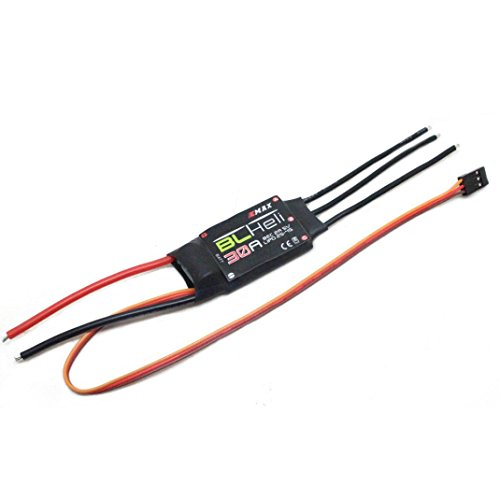 4Clovers 4x EMAX BLHELI 30A ESC BEC 2A5V Brushed Brush Speed Controller for FPV RC QAV250 Quadcopter by 4Clovers