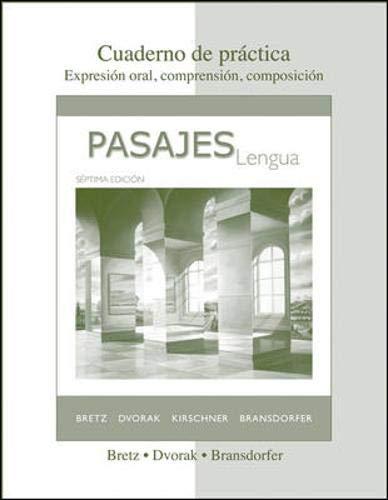 Pasajes: Cuaderno De Practica, 7th Edition (Spanish Edition)