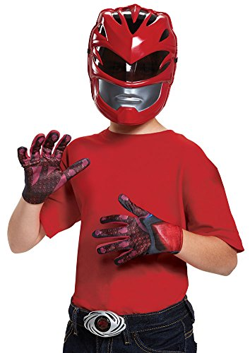 Boys Halloween Costume-Red Rangr 2017 Kids Costume Accessory (Power Ranger Helmet Kit)