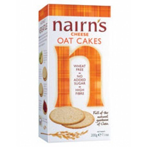 (12 PACK) - Nairns - Cheese Oat Cakes   200g   12 PACK BUNDLE NAIRN'S OATCAKES