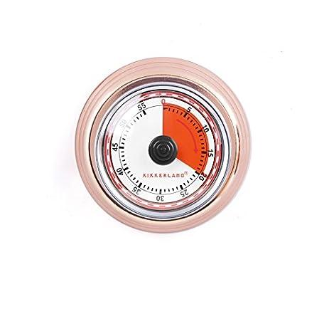 Kikkerland KT051 CO Magnetic Kitchen Timer, Copper