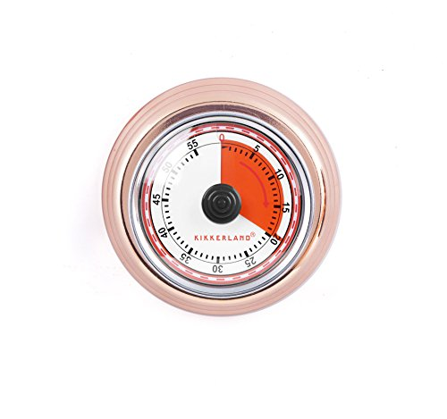 Kikkerland Timer - Kikkerland KT051-CO Magnetic Kitchen Timer, Copper