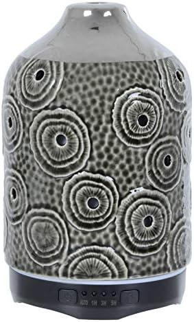 The Leonardo Collection Aroma Humidifier Colour Change Light Electric Diffuser Silver Circles 120ml