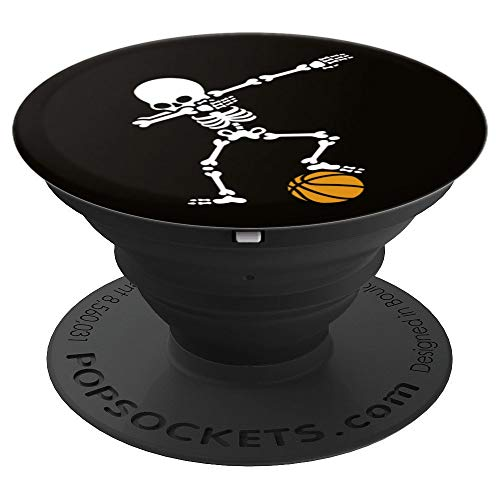 Hilarious dab dabbing skeleton basketball basket kid gift - PopSockets Grip and Stand for Phones and Tablets -