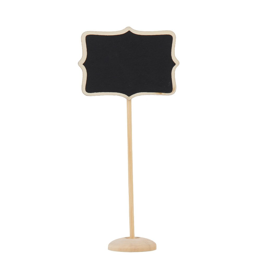 Chinatera 12pcs Mini Retangle Chalkboard Blackboard Stand Wedding Lolly Party Tag (Pattern 2)