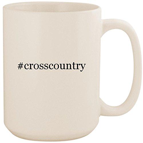 (#crosscountry - White Hashtag 15oz Ceramic Coffee Mug Cup)
