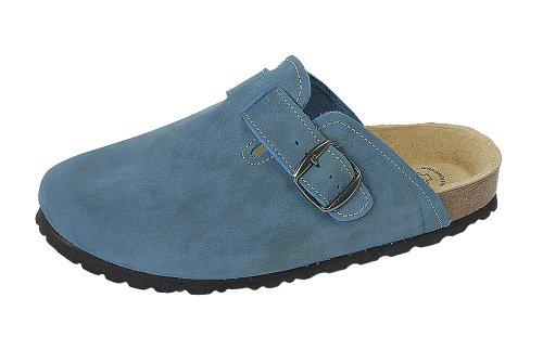 Wörishofer Clog 41510 - Zuecos de cuero unisex Azul