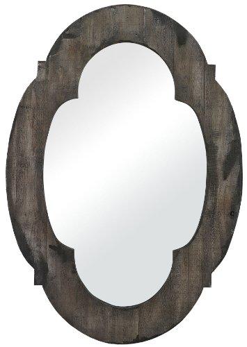 Sterling 26-8654 Berkely Wood Framed Mirror, 19-Inch, Hill Grey Wash Aged Finish ()