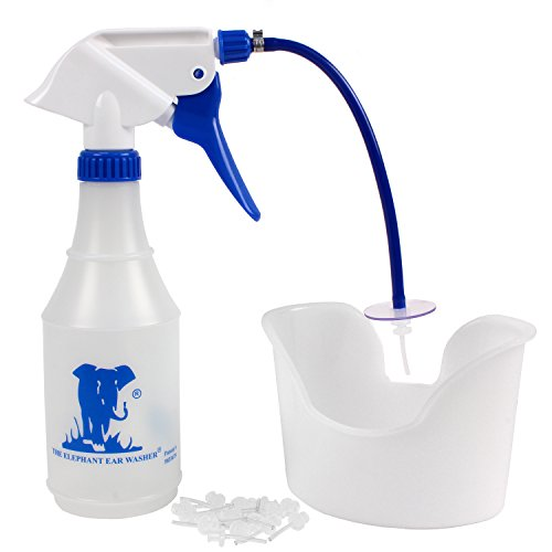Doctor Easy Elephant Ear Washer Bottle System - Ear Wax Remover with Basin and 20 Extra Disposable Tips