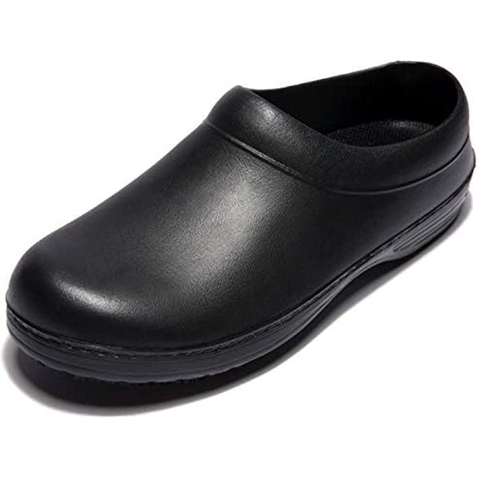 IKCSHOE Flat Chef Non-Slip Safety Oil Water Resistant Casual Clog Shoe for Women and Men