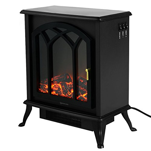Electric 1500W Fireplace Heater Fire Flame Stove Wood Adjustable by Tamsun