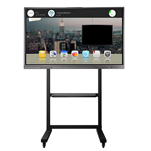 (65 inches Interactive Smart Whiteboard for Meeting and Teaching Room Full HD Flat Panel with Rolling TV Stand)