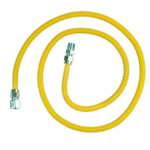 BrassCraft CSSD54-72 P 1/2-Inch FIP x 1/2-Inch MIP x 72-Inch ProCoat Gas Appliance Connector with  1/2-Inch OD from BrassCraft