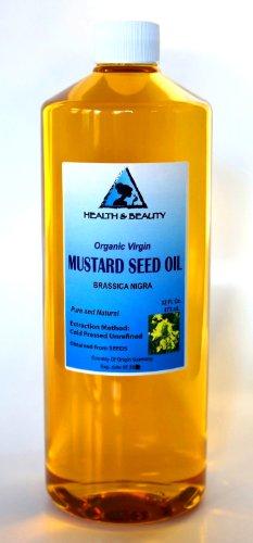Moutarde huile non raffinée Carrier Organic pure pressée à froid 32 oz