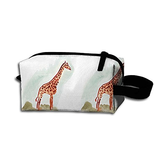 Create Magic - Giraffe Portable Travel Toiletry Pouch Waterproof Multi-Purpose Storage Tote Tools Pouches Cosmetic Bags with Zipper and Hanging - Handling Material Bins