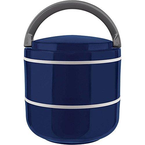 Lunch Box Marmita Microondas Dupla Azul 1,4L - Euro Home