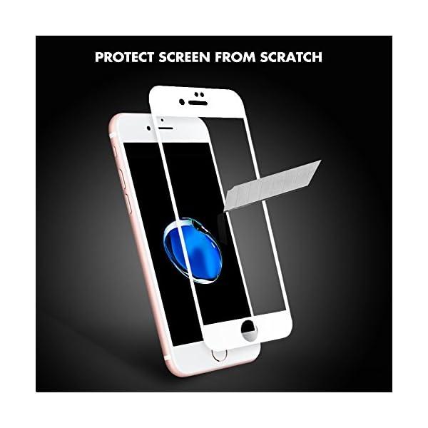 aiMaKE Protector de Pantalla para iPhone 7 Plus, 3D Pantalla Completa Cristal Templado Pantalla Protectora Anti BLU Ray…
