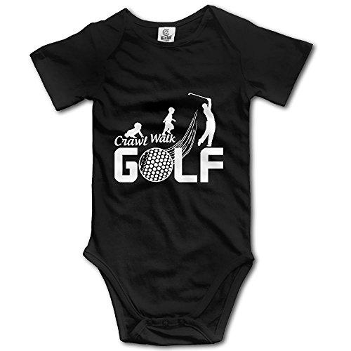 Golf Teddies (Dream-R Crawl Walk Golf Evolution Newborn Babys Boy's & Girl's Short Sleeve Baby Climbing Clothes For 0-24 Months Black Size 6 M)