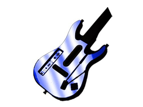Cheap Guitar Hero 5 (GH5) World Tour for Nintendo Wii Skin – NEW – BLUE CHROME MIRROR system skins faceplate decal mod