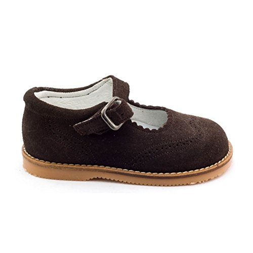 Boni Classic Shoes - Zapatos de Cordones de cuero Niña marrón