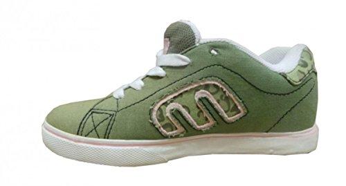 Etnies Skateboard Shoes Calli-Vulc Olive/White