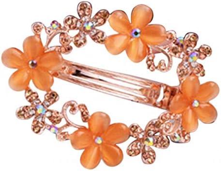 (プラスナオ) バレッタ 髪飾り ヘアアクセサリー まとめ髪 ヘアアレンジ ロングヘア ミドルヘア フラワー 可愛い おしゃれ 綺麗 お