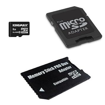 Amazon.com: Kingmax 8 GB MicroSDHC Class 10 con adaptador ...