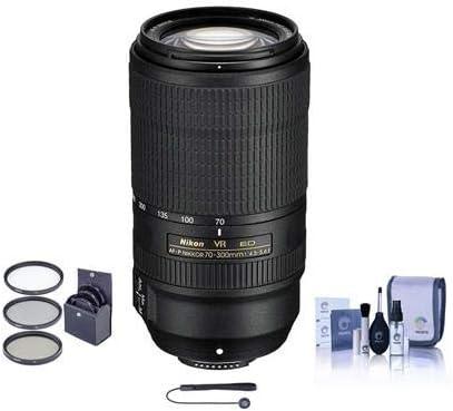 Nikon AF-P NIKKOR 70-300mm f/4.5-5.6E EDIF VR Lens - USA Warranty - Bundle Pack