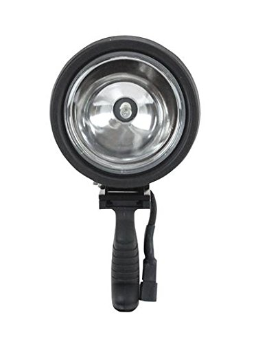 6 Million Candlepower Spotlight with Handle, 12 foot Coil Cord and Cigarette Plug - 12 / 24 Volts DC