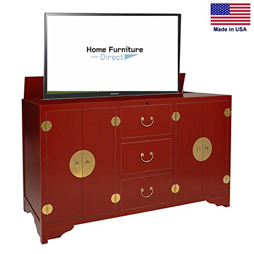 dynasty red tv lift cabinet