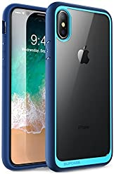 SUPCASE iPhone X, iPhone XS Case, [Unicorn Beetle Style] Premium Hybrid Protective Clear Case for Apple iPhone X 2017/ iPhone XS 2018 Release (Navy)
