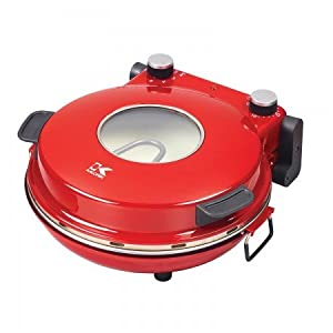 Kalorik PZM 43618 R Red High Heat Stone Pizza Oven,