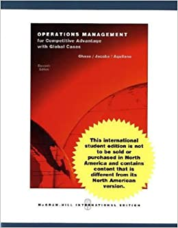 Operations management for competitive advantage 10th edition operations management for competitive advantage 10th edition jacobs aquilano chase 9780071215558 amazon books fandeluxe Image collections